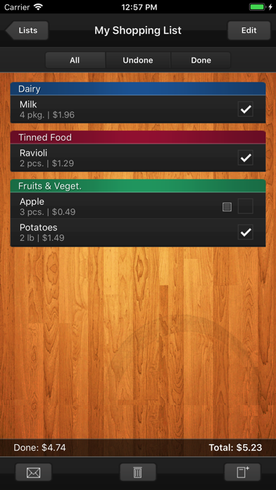 Shopping List (grocery List) review screenshots