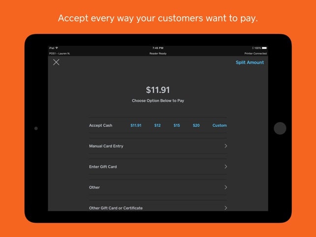 Square Restaurants Pos On The App Store