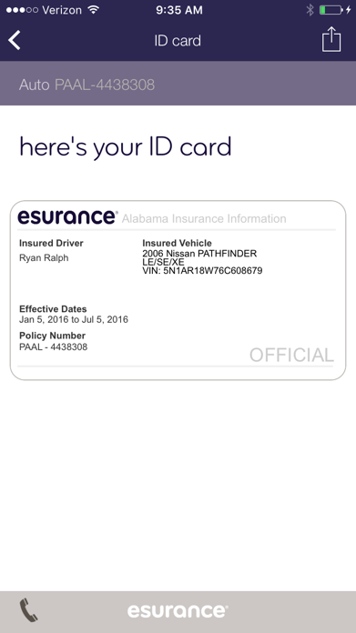 Esurance Mobile Screenshot