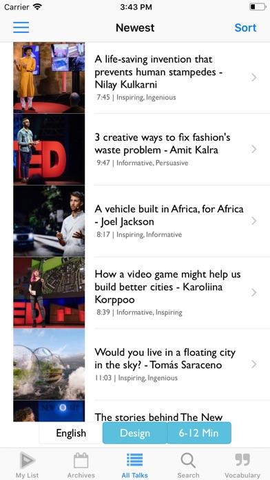 TEDICT - TEDで英語を習おうのスクリーンショット