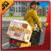 3Dバーガーボーイシミュレータ - クレイジーモーターバイクライダーとシミュレーションアドベンチャーゲームに乗って配達バイク