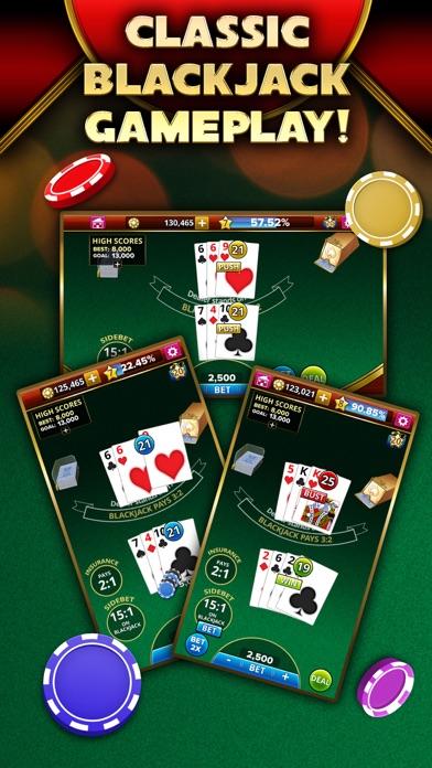 Blackjack 21 - Platinum Player screenshot 2