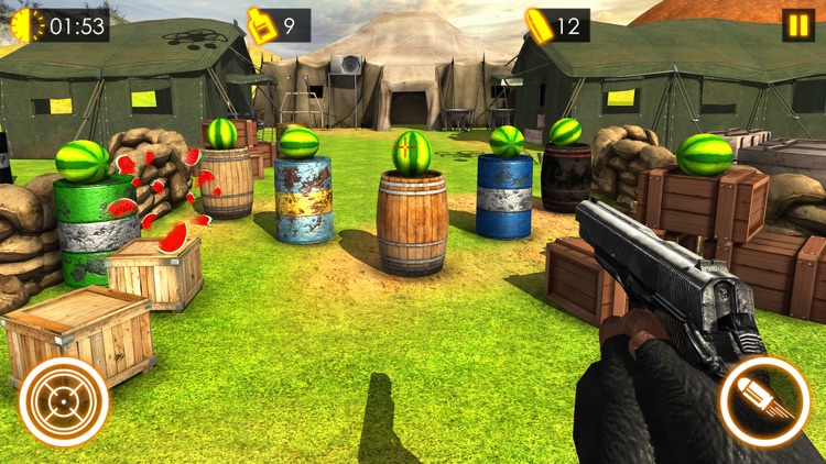 Watermelon Shooting Game 3D screenshot-3