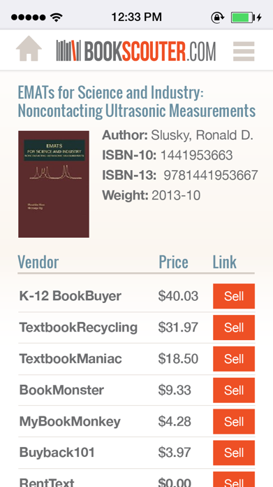 BookScouter Screenshot