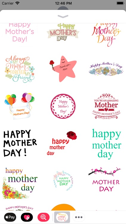 Happy Mothers Day Stickers