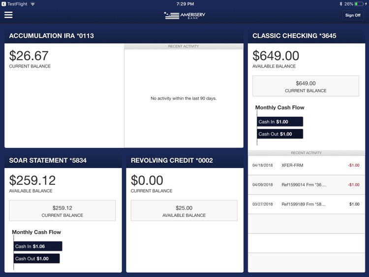 AmeriServ Banking for iPad screenshot-0