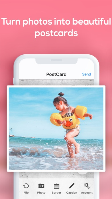 Snapshot Postcard App review screenshots