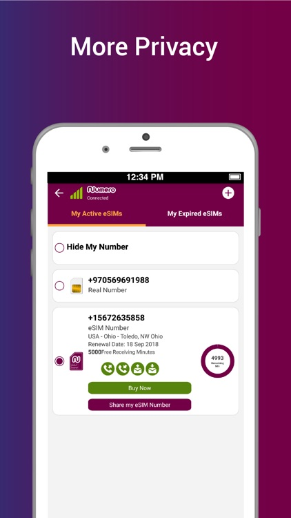Numero eSIM - Virtual Number screenshot-4