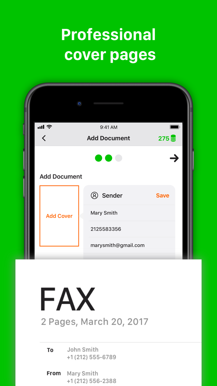 Tiny Fax: send fax from iPhone Screenshot