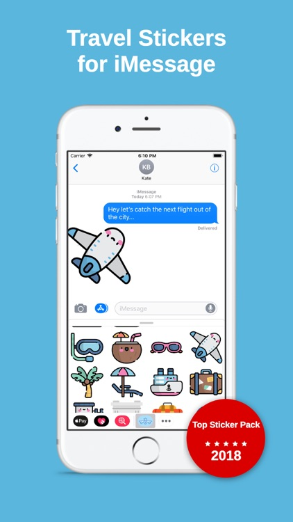 Travel Stickers for iMessage screenshot-0