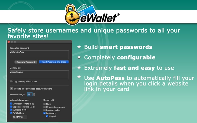 eWallet Screenshot