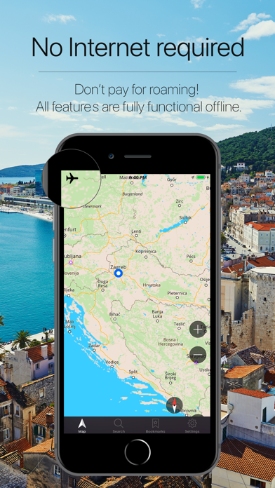 Croatia Offline Navigation Screenshot