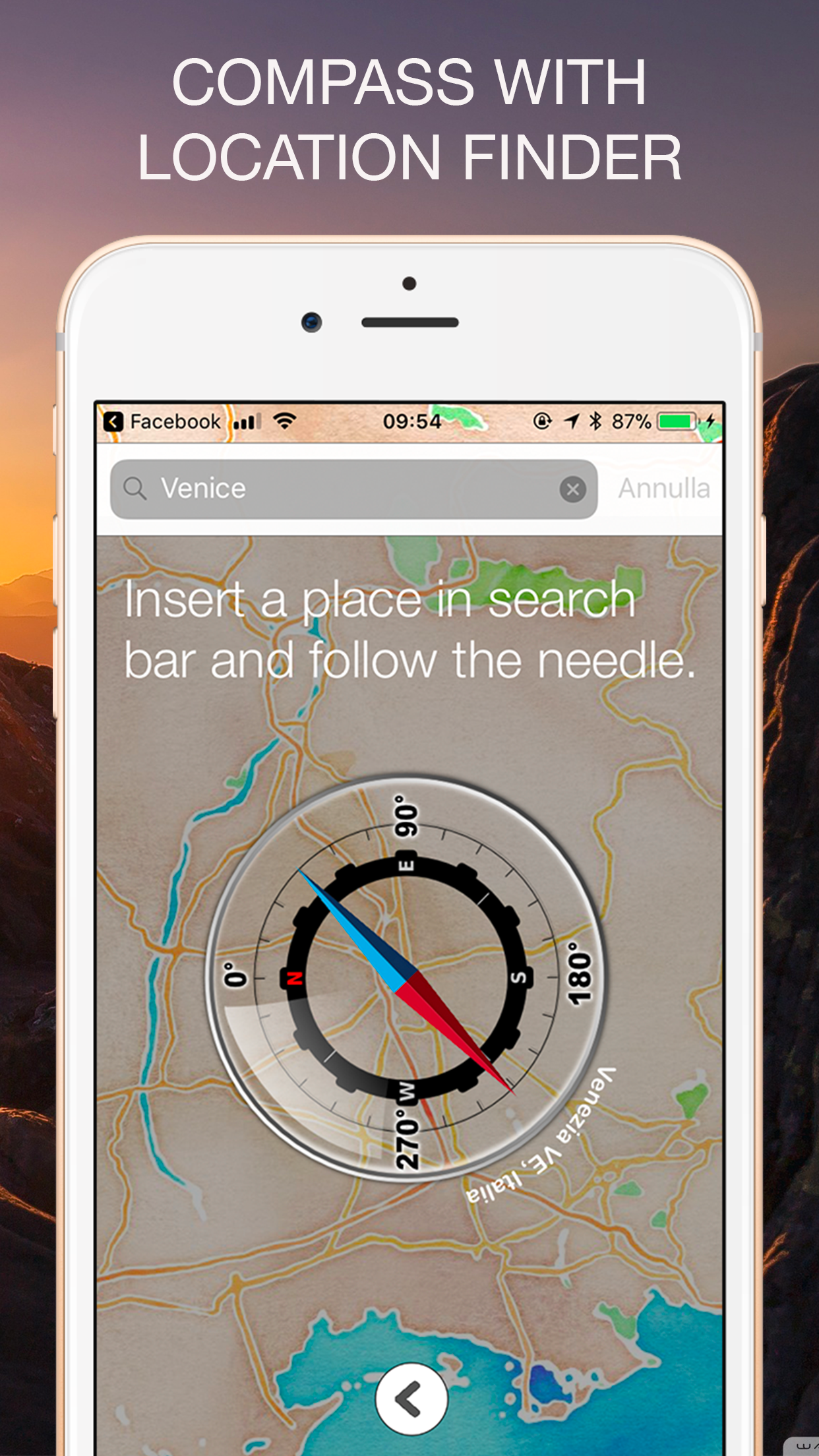 Altimeter GPS with barometer Screenshot