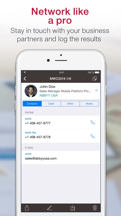 ≡ Business Card Scanner Pro screenshot-3
