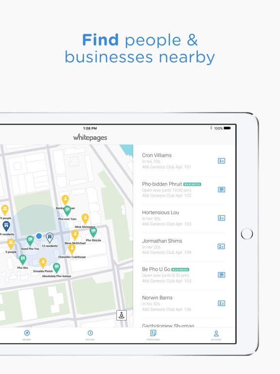 Whitepages People Search iPad