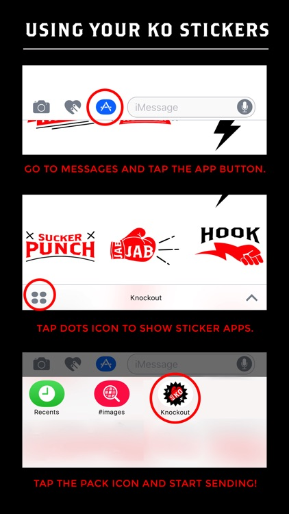 Knockout Stickers screenshot-4