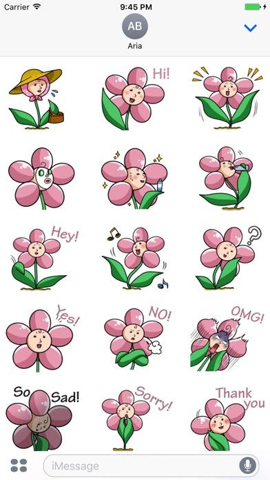 Beautiful Ms. Flower Sticker screenshot 1