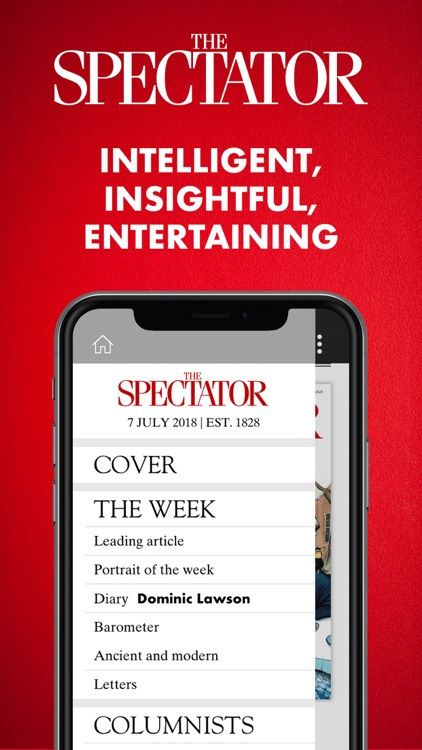 The Spectator Magazine screenshot-0