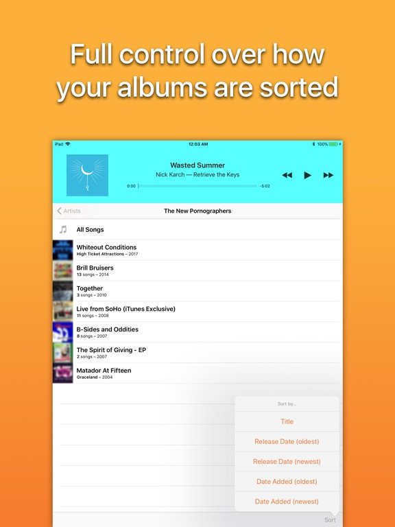 Screenshot #5 for Picky Music Player
