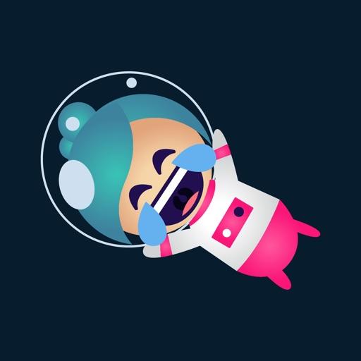 Astrogirl - Astronaut Emoji by Mar Kevin Cayabyab