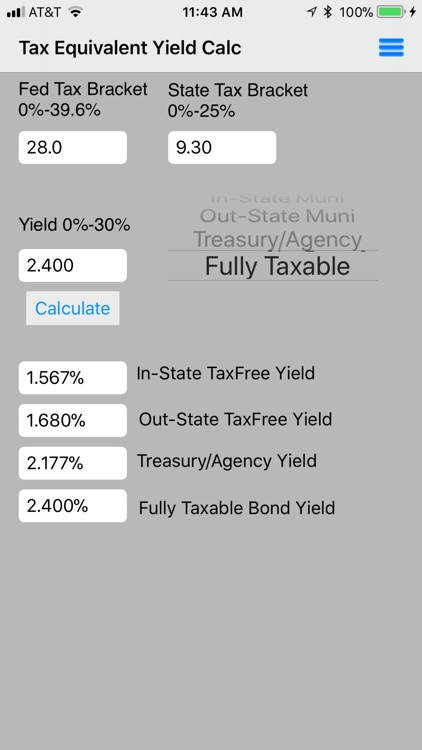 Tax Equivalent Yield Calc screenshot-3