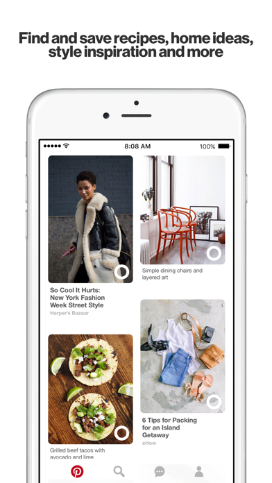 Screenshot for Pinterest in United States App Store