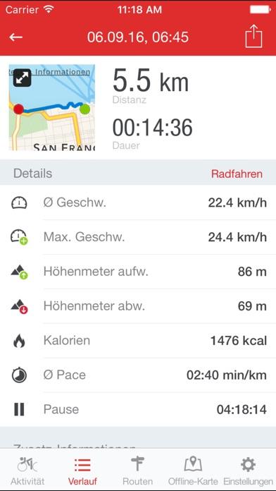 Screenshot for Runtastic Road Bike GPS PRO in Germany App Store