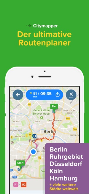 citymapper dein stadt navi im app store. Black Bedroom Furniture Sets. Home Design Ideas