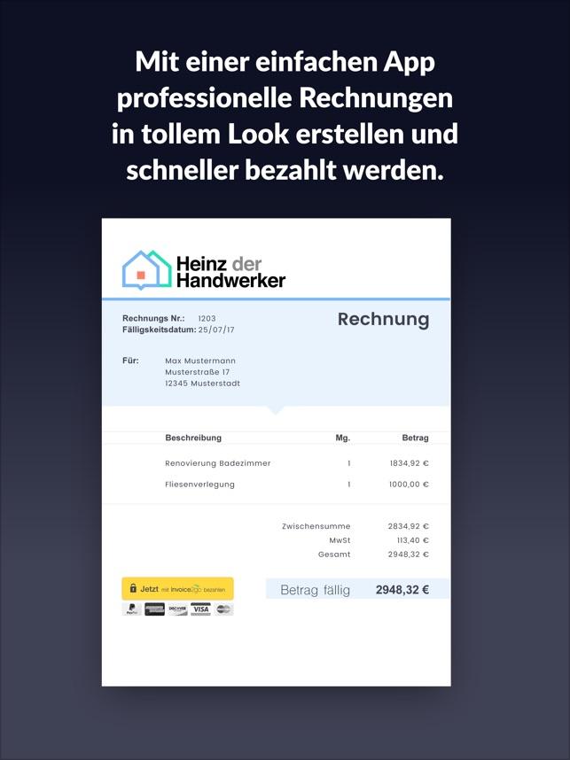 Rechnung Erstellen Invoice 2go Im App Store