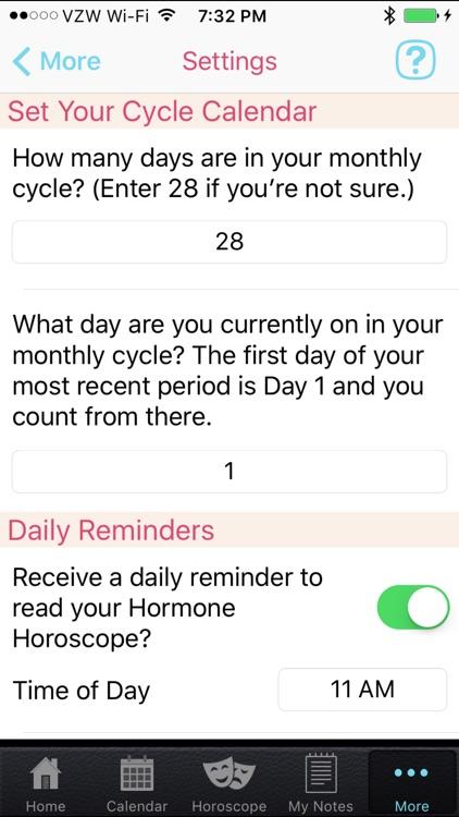 Hormone Horoscope Lite screenshot-4
