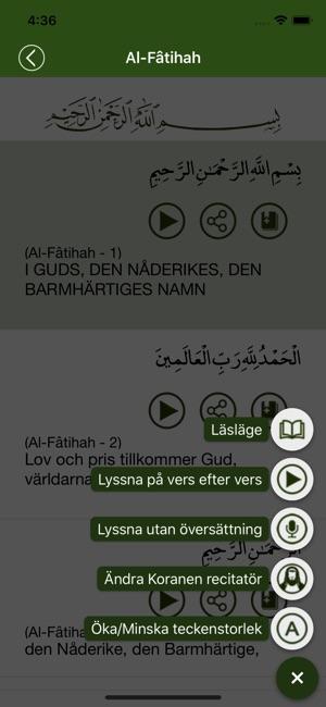gratis koran på svenska