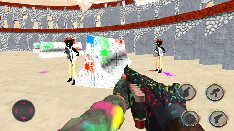 Stickman Paintball Arena Boom screenshot-3