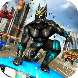 Panther Superhero City Battle