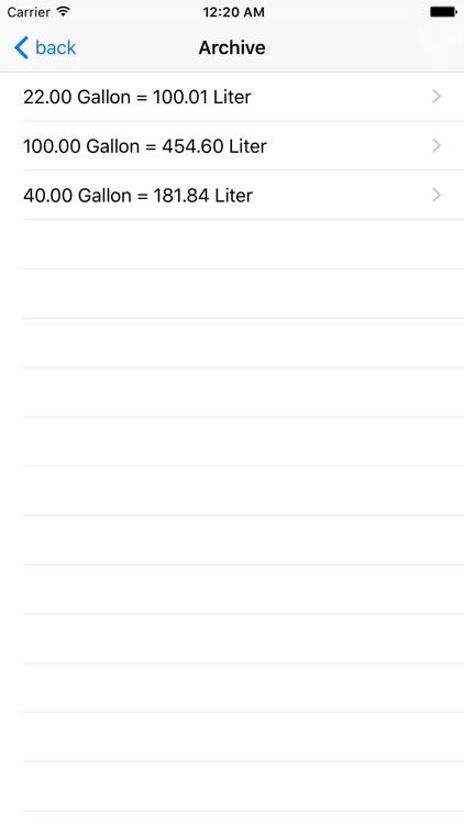 Gallon Liter screenshot-3