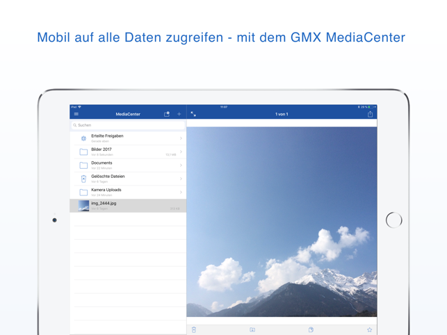 GMX MediaCenter Screenshot