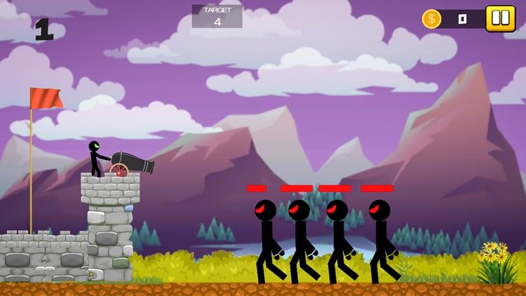 Stickman Cannon Shooter screenshot-3