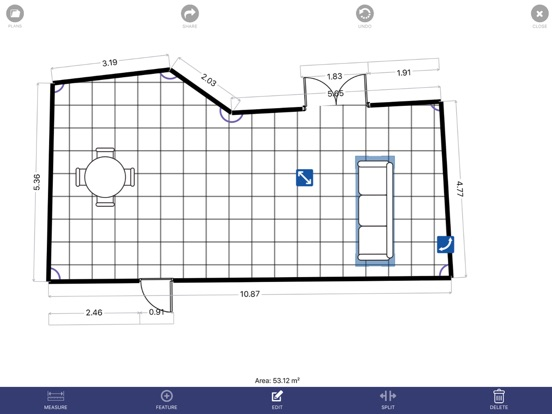 Floor Plan App Screenshots