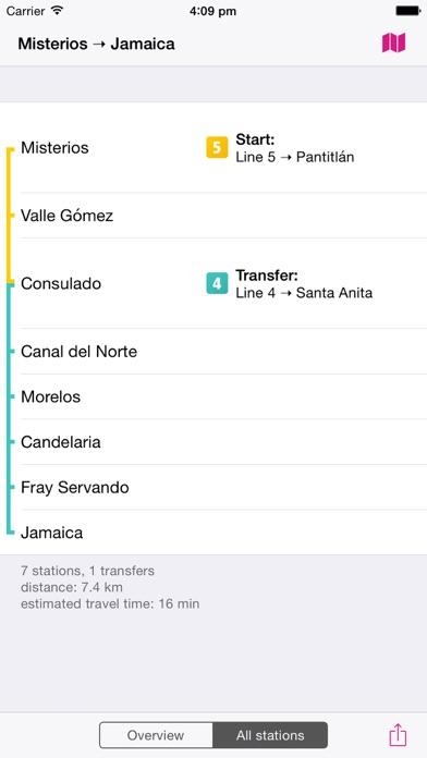 Mexico City Rail Map Lite screenshot four