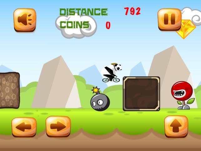 BikerPanda, game for IOS