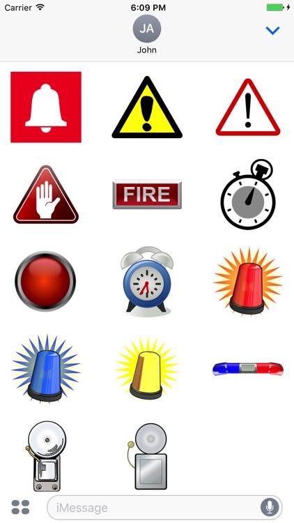 Alarm Stickers