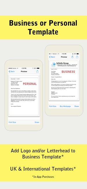 Pocket letter lite on the app store iphone ipad spiritdancerdesigns Gallery