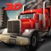 18惠勒卡车司机模拟器的3D - 驱动器从半拖车运输货物的目的地