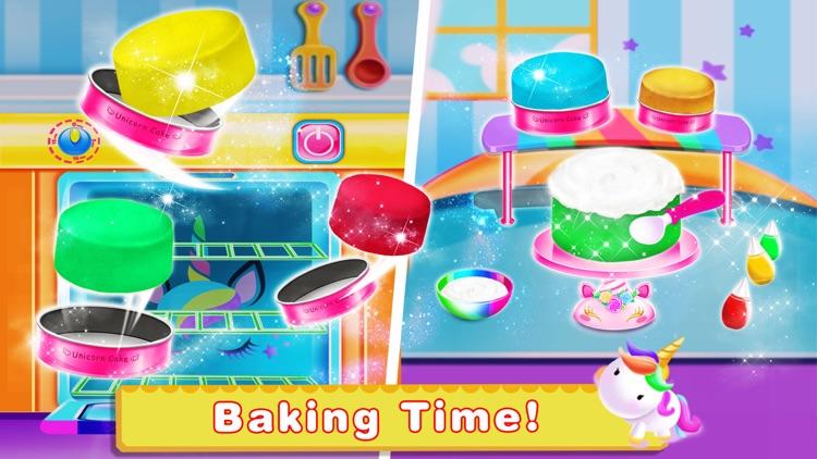 Unicorn Food-Cake Bakery Games