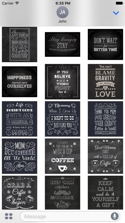 Chalkboard Quotes - Positive & Inspiration & Love screenshot-4