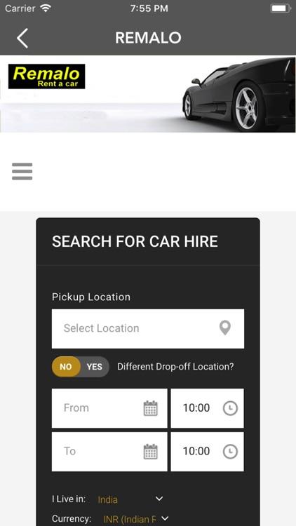 Remalo.com Car Rental App