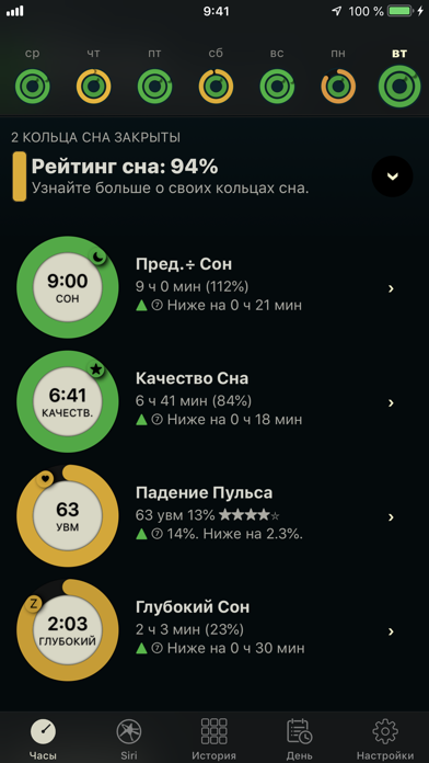 Screenshot for AutoSleep: Трекер сна in Russian Federation App Store