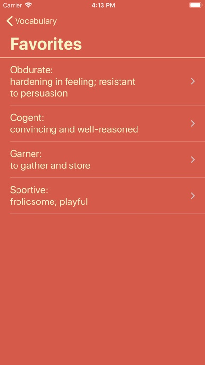 Vocabulary - Learn New Words screenshot-4