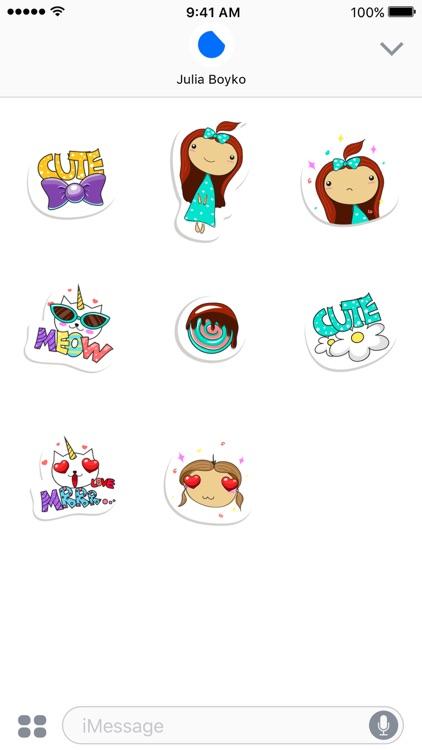 Cute Sticker Set