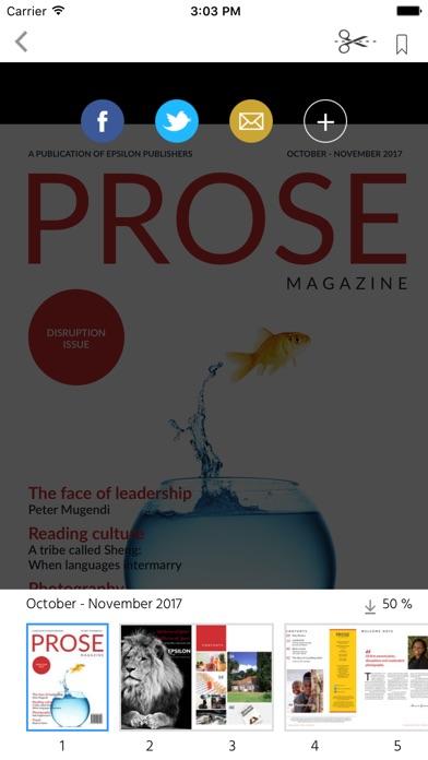 Prose magazine screenshot 2