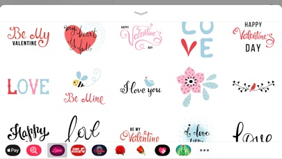 Screenshot for Best Romantic Love Sticker App in Viet Nam App Store